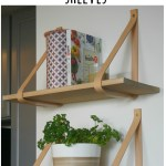 DIY leather strap shelves