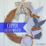 copper easter wreath