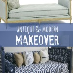 antique to modern daybed makeover
