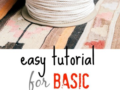 Easy Tutorial For Basic Macrame Knots My French Twist