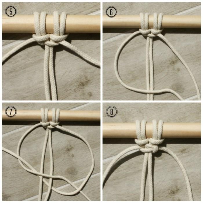 macrame square knot - myfrenchtwist.com