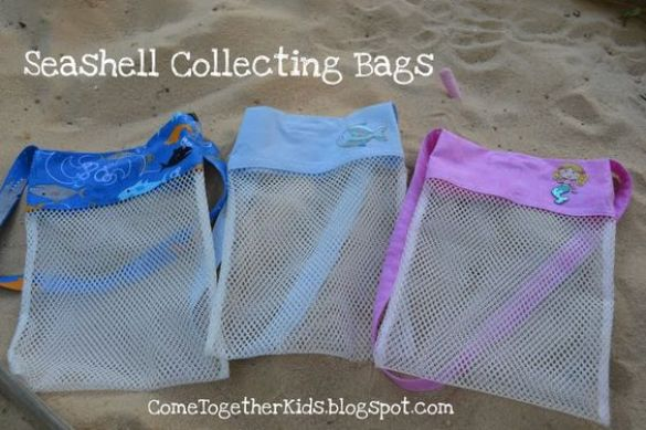 shell collecting bags - myfrenchtwist.com