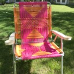 sweet and sassy macrame lawn chair