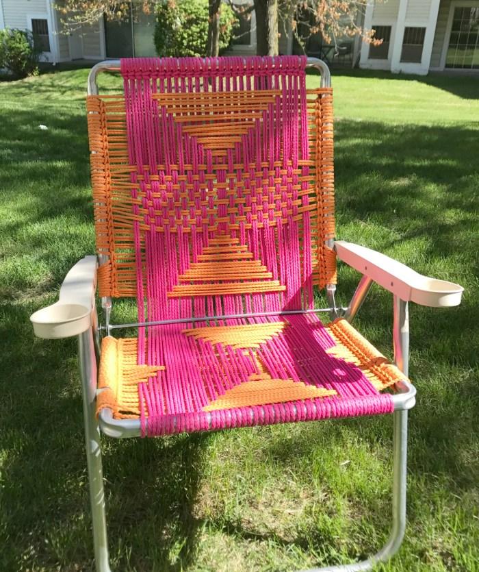 macrame lawn chair - myfrenchtwist.com