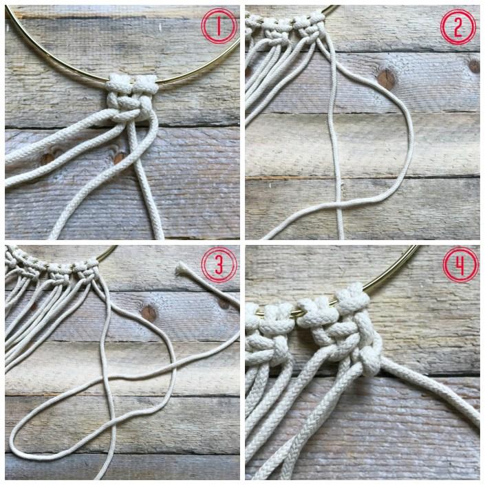 half hitch knot macrame - myfrenchtwist.com
