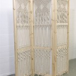 easy macrame folding screen