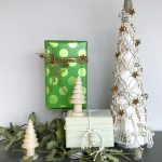 macrame tabletop christmas tree