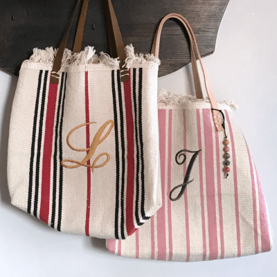 tote from Ikea rug