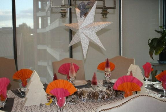 scandi christmas table setting