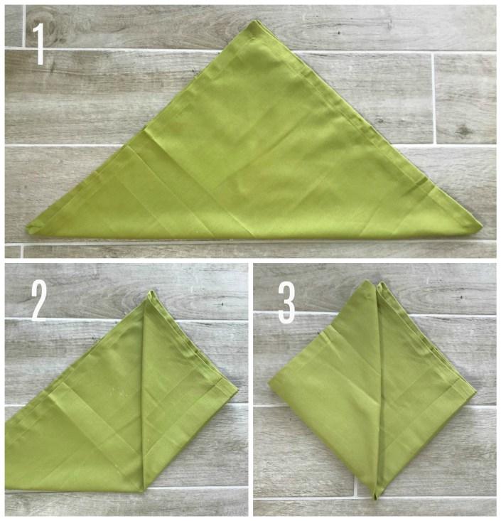 heart shaped napkin