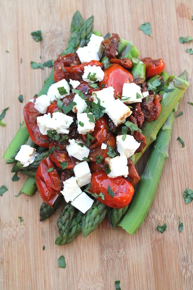 Asparagus & Balsamic Tomatoes with Feta_003