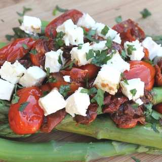 Asparagus with Balsamic Tomatoes & Feta