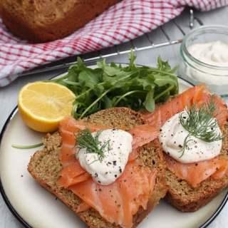 Irish Soda Bread with Smoked Salmon and Horseradish Sauce