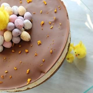 Chocolate & Orange Mini Egg Cheesecake