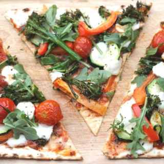 Roasted Vegetable Wrap Pizza