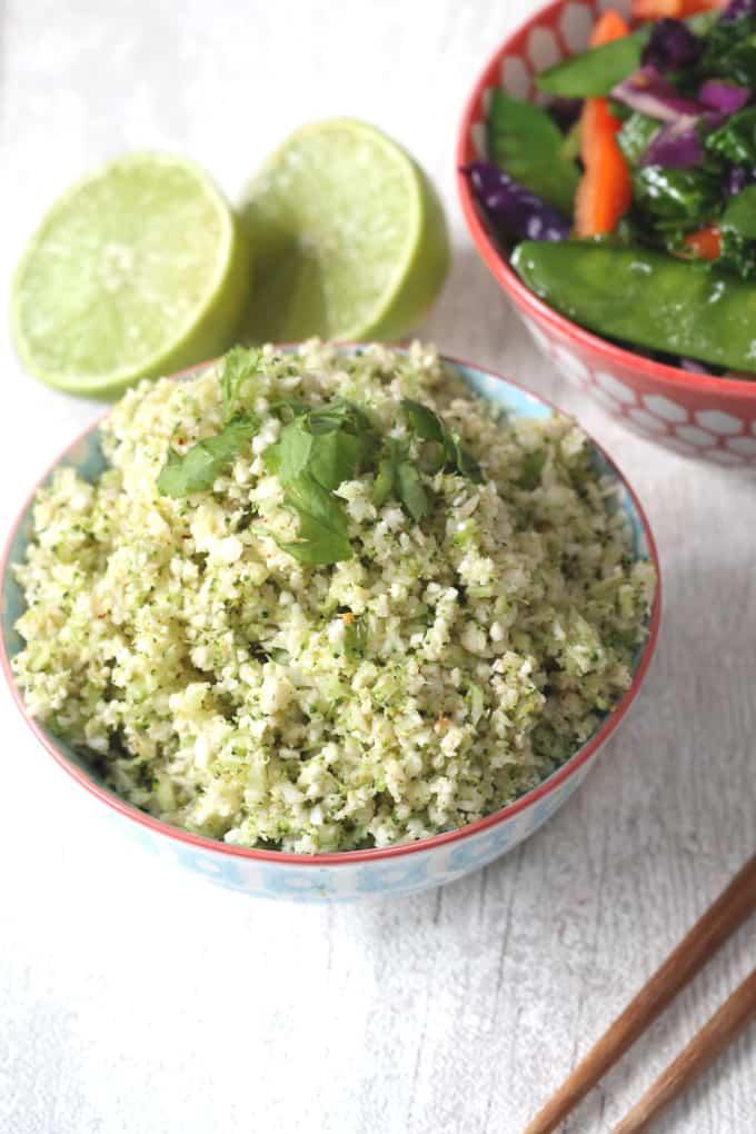 broccoli cauliflower rice with veggies