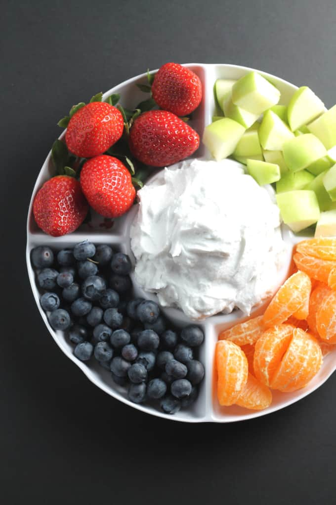 whipped coconut cream with fruit