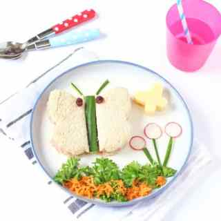 Toddler Lunch Ideas: Butterfly Sandwich