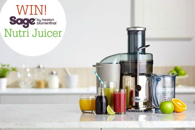 Win a Sage by Heston Blumenthal Nutri Juice on My Fussy Eater blog