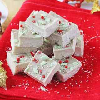 Healthy Coconut & Banana Christmas Fudge