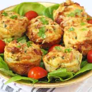 Leftover Mashed Potato, Ham & Cheese Muffins