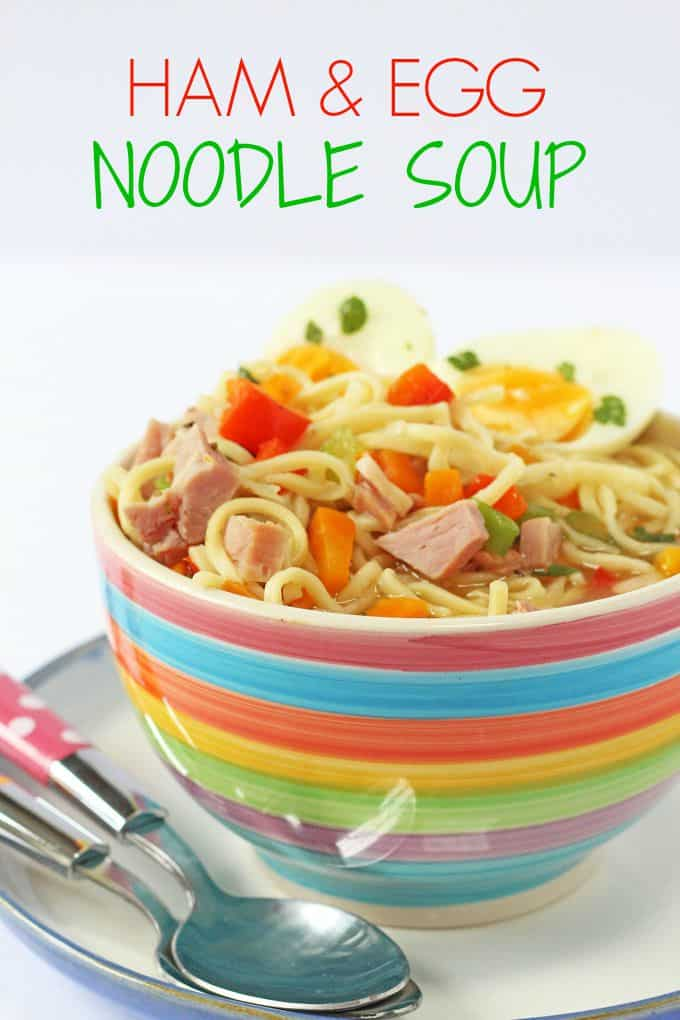 Ham and Egg Noodle Soup
