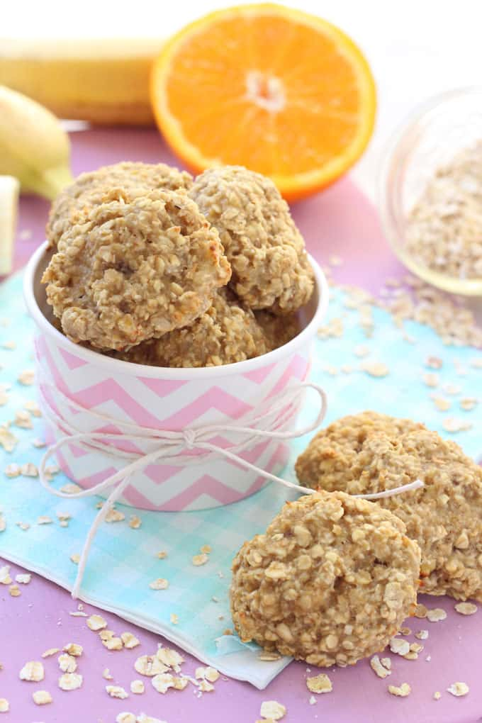 gluten free banana orange oat bites