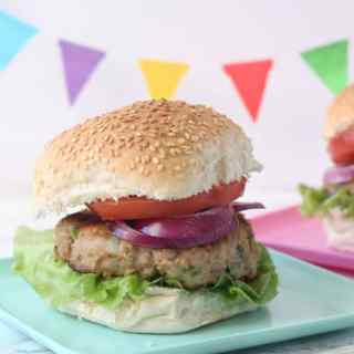 Feta & Spinach Turkey Burgers