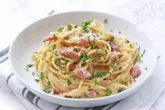 One Pot Spaghetti Carbonara - My Fussy Eater | Healthy