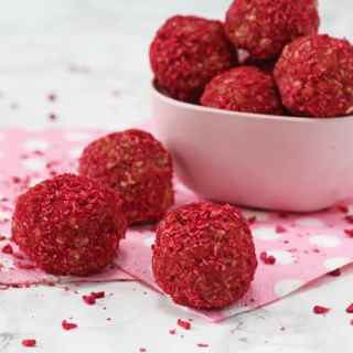 Raspberry & Coconut Energy Bites