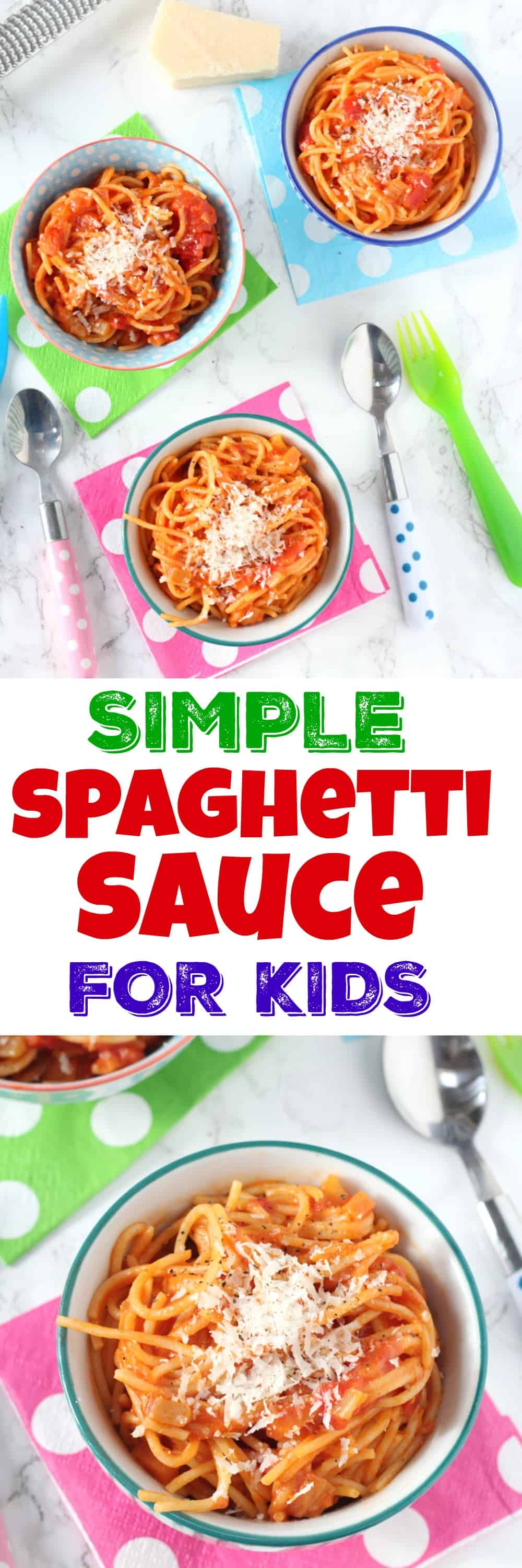 Simple tomato spaghetti for kids my fussy eater a super simple recipe for spaghetti and tomato sauce perfect to whip up for a forumfinder Choice Image