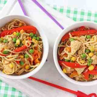 Sesame Honey Chicken Noodles