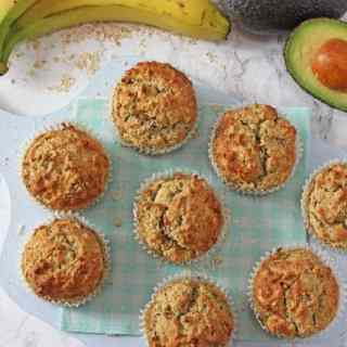 Banana, Avocado & Apple Baby Muffins