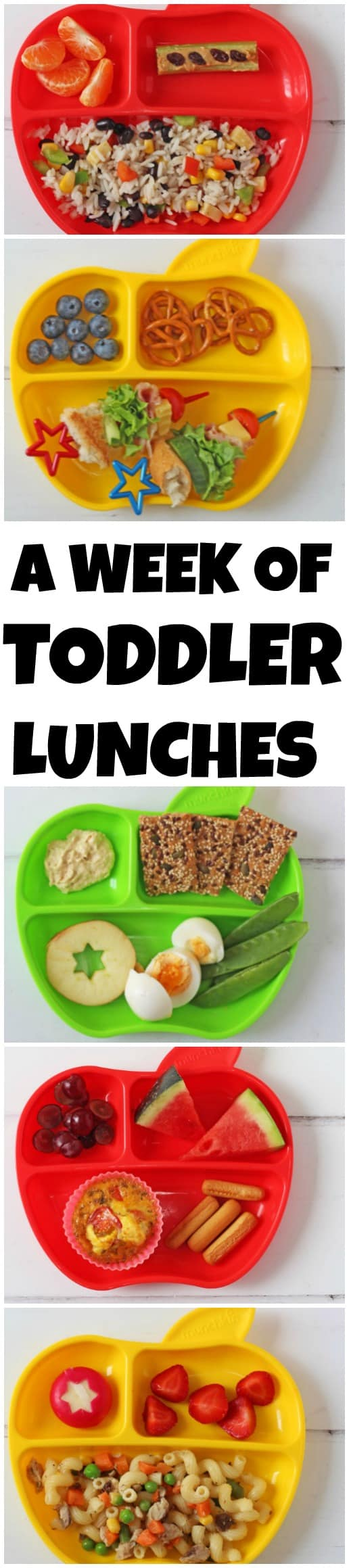 Seven quick, easy and healthy lunch ideas you can feed your toddler this week!
