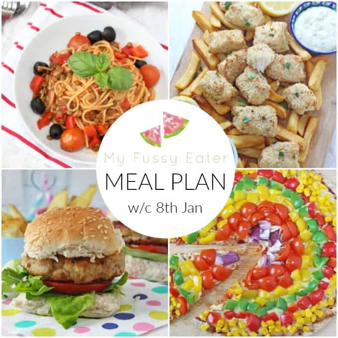 Our family meal plan for the week commencing 8th January 2017