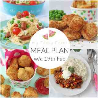 Family Meal Plan w/c 19th February 2018