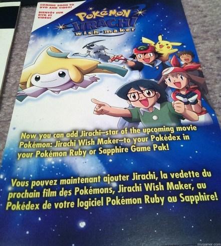 the included paper insert Forgotten Relics: Pokemon Colosseum Bonus Disc (GC) FORGOTTEN RELICS – Pokemon Colosseum Bonus Disc (GC) Pokemon Colosseum Insert 919x1024