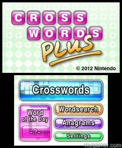 Extra modes need to be unlocked Crosswords Plus (3DS) Review Crosswords Plus (3DS) Review Crosswords Plus1