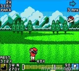 Facing Mario will take skill Mario Golf (GBC, 3DS Virtual Console) Review Mario Golf (GBC, 3DS Virtual Console) Review Mario Golf GBC Swing