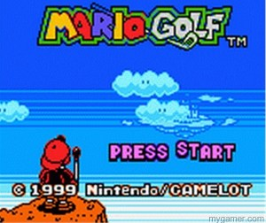 Such an epic intro screen Mario Golf (GBC, 3DS Virtual Console) Review Mario Golf (GBC, 3DS Virtual Console) Review Mario Golf GBC Title 300x252