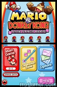 Make your own puzzles Mario vs Donkey Kong: Minis March Again! (DSiWare) Review Mario vs Donkey Kong: Minis March Again! (DSiWare) Review Mario vs DK MMA TitleScren