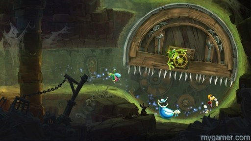 The trigger buttons rotate the screen in certain segments Rayman Legends (Xbox 360) Review Rayman Legends (Xbox 360) Review Rayman Legends 1