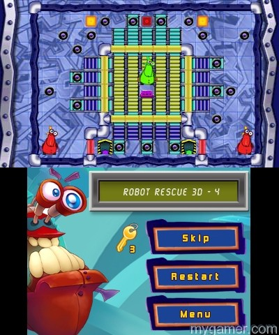 Go ahead and try to figure this one out Robot Rescue 3D 3DS eShop Review Robot Rescue 3D 3DS eShop Review Robot Rescue Screen1