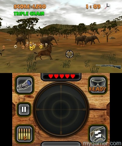 Chain attacks to increase score Outdoors Unleashed: Africa 3D (3DS eShop) Review Outdoors Unleashed: Africa 3D (3DS eShop) Review Outdoors Unleashed Africa 3D Coins