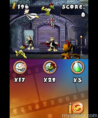 Reload by tapping the icon on the touch screen or use the D-pad Crazy Chicken: Director's Cut 3D 3DS eShop Review Crazy Chicken: Director's Cut 3D 3DS eShop Review Crazy Chicken Dir 2