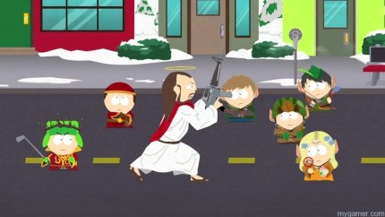 Summon Jesus for a one-hit kill South Park: The Stick of Truth Review South Park: The Stick of Truth Review South Park Stick of Truth Jesus Summon