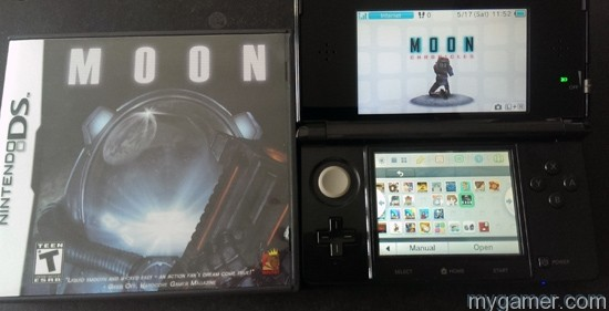 Moon DS cart next to digital Moon
