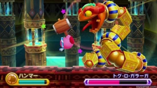 Each world ends with a boss battle Kirby Triple Deluxe 3DS Review Kirby Triple Deluxe 3DS Review Kirby Triple Boss