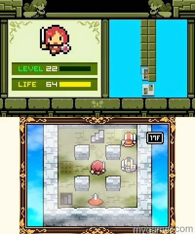 The Tower section has tricky puzzles and high leveled knights Fairune 3DS eShop Review Fairune 3DS eShop Review Fairune Gameplay