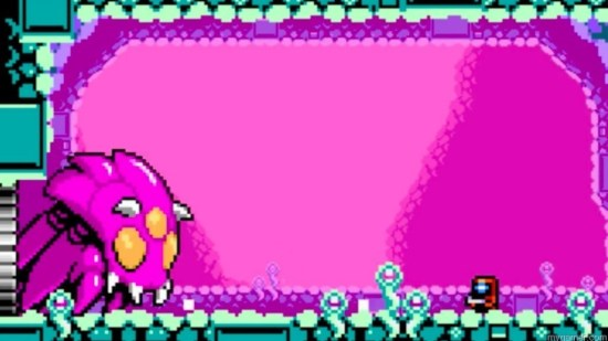 This boss repeats over and over.  Xeodrifter 3DS eShop Review Xeodrifter 3DS eShop Review Xeodrifter Boss 1024x576